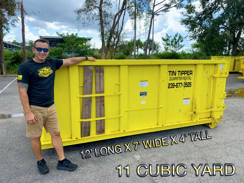 11 CY dumpster rental in Fort Myers Florida