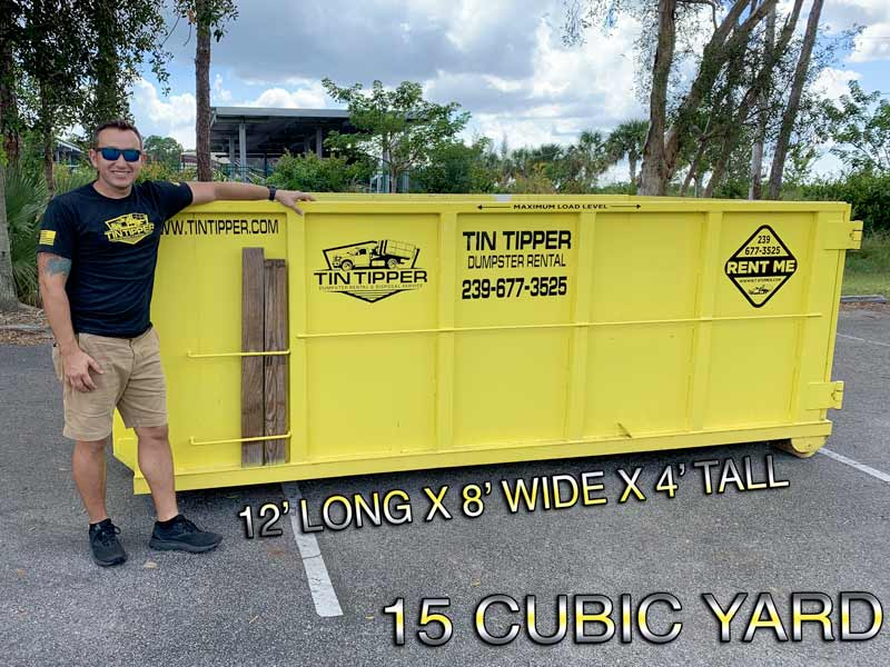 15-CUBIC-YARD- in fort myers florida DUMPSTER-SIZE-BY-TIN-TIPPER-DUMPSTER-RENTAL
