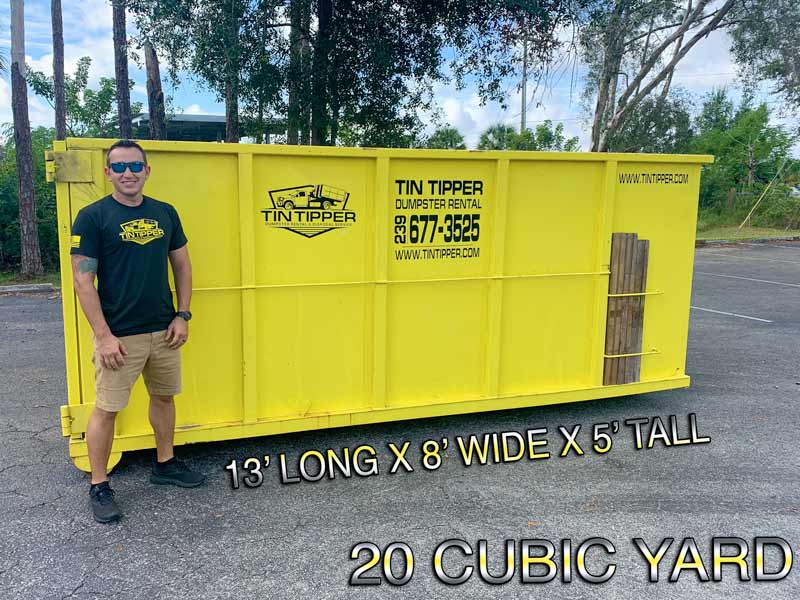Fort Myers Florida 20-CUBIC-YARD-DUMPSTER-FROM-TIN-TIPPER-DUMPSTER-RENTAL